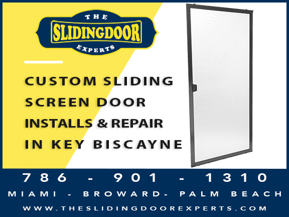 Custom Sliding Screen Door Installation & Repair in Key Biscayne