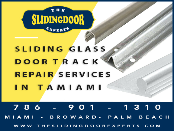 Sliding Glass Door Track Repair in Tamiami