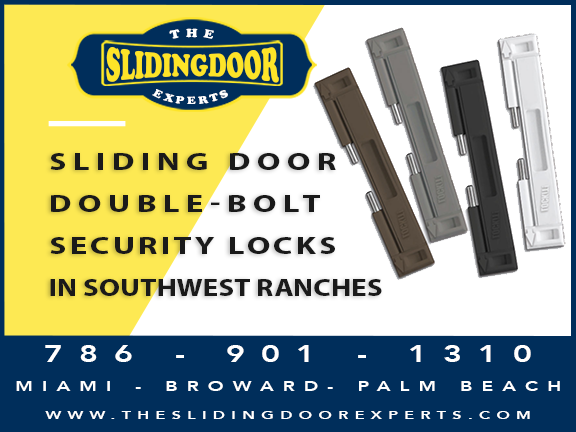 Sliding Glass Door Double-Bolt Lock in Southwest Ranches